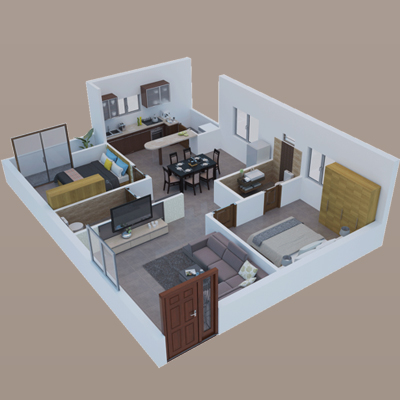 2BHK Interior Design